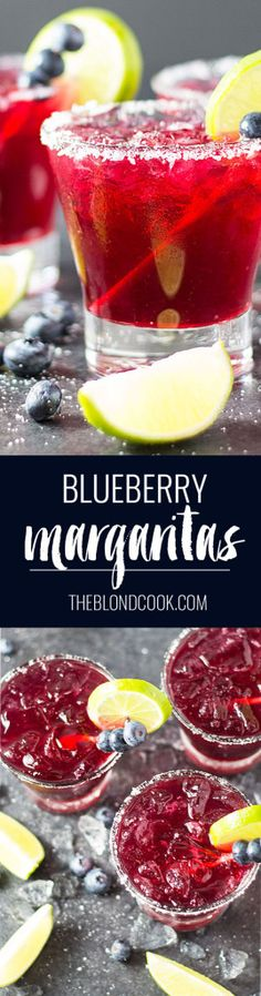 Blueberry Margaritas | The Blond Cook