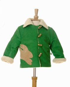 I think this jacket would work for boys or girls. One Year Old, Green Jacket, Corduroy, Boy Or Girl, Kids Fashion, Bunny, Daughter, Boys, Girls