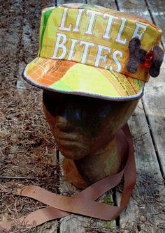 Fun Pop Art Hat Upcycled from Dog Food Bag by HaTsbyOlivebranch, $50.00