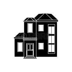 logotipo inmobiliaria: house urban expensive pictogram vector illustration eps 10