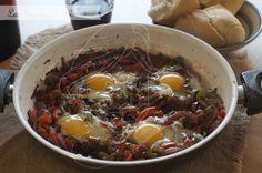 Huevos al vino de Somontano