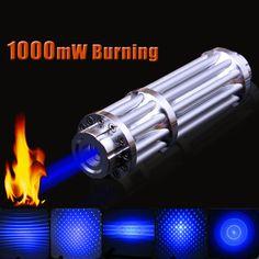 Garberiel Professional Military 1W 405nm Blue Purple Laser Pointer Pen Power Beam Light Puntero laser Burn Cigarette Match