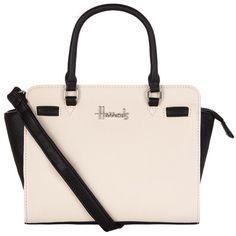 Harrods Novello Mini Two-Tone Crossbody Bag ($55) ❤ liked on Polyvore featuring bags, handbags, shoulder bags, crossbody purse, mini crossbody, mini shoulder bag, crossbody shoulder bags and mini purse