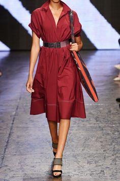 DONNA KARAN Belted cotton-poplin dress $3,034.22 http://www.net-a-porter.com/products/538612