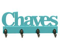 Porta-Chaves Key Turquesa - 24X10cm