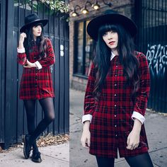 Rachel-Marie Iwanyszyn - Vintage Plaid Dress, Dr. Martens Siano Shoe - STAND FOR SOMETHING.