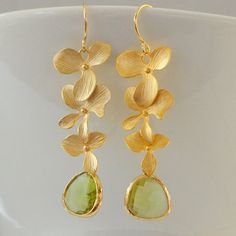 Gorgeous Cascading Orchid Dangles with by TheTangerinePoppy