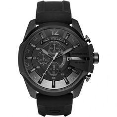 Diesel Chief Black Dial Black Silicone Men's Chronograph Watch DZ4378