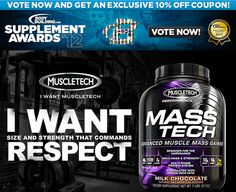 Vote today for your favorite Team MuscleTech products in the Bodybuilding.com Supplement Awards! http://bbcom.me/NtyhCr