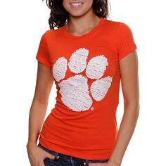 My U Clemson Tigers Women's Sketch It Out T-Shirt - Orange