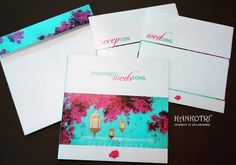 Turquoise & florals blending with gold overlays