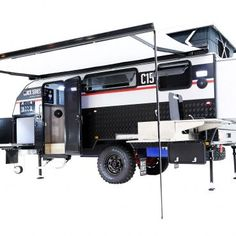 Black Series Camper Trailer Off Road Camper Trailer, Camper Trailers, Fly Screen Doors, Water Plumbing, Tiny Trailers, Stainless Kitchen, Jerry Can