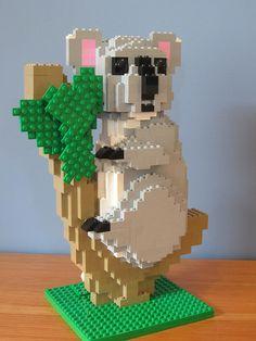 The cute Australia Native made in LEGO. Lego Animals, Cute Animals, Childhood Games, Lego Worlds, Lego Projects, Legoland, Lego Creations, Animal Design, Legos