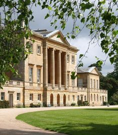 The timeless Basildon Park appears on screen in Pride and Prejudice as Netherfield Park. While the outside looks straight out of Jane Austen's pages, the interior was actually renovated in the to meet the modern styles and standards of the time English Manor Houses, English Castles, British Architecture, Neoclassical Architecture, Villa, Grand Homes, Marquise, Country Estate, Historic Homes