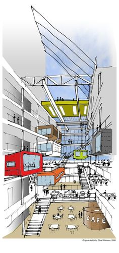 Image 29 of 29 from gallery of Macquarie Bank / Clive Wilkinson Architects. sketch