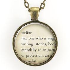 Writer Dictionary Definition Necklace – CellsDividing