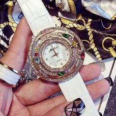 >> Click to Buy << Luxury Brand Genuine Leather Strap Women Watch Full Crystal Dress Watches Ladies Diamond Rhinestone Quartz Watch For Women #Affiliate