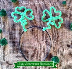 Tot School Tuesday: Silly Shamrock Headband - Mine for the Making