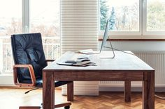 Check out Home office by Marian Kadlec on Creative Market Business Photos, Home Hacks, Ux Design, Home Office, Dining Bench, Minimalism, Desk, Creative, Furniture