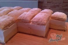 Nejlepší krémeš (Fotopostup) | NejRecept.cz Czech Desserts, Sweets Cake, Wonderful Recipe, Chocolate Desserts, Sweet Recipes, Dairy, Food And Drink, Bread, Cheese