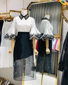 Frock Fashion, Kpop Fashion Outfits, Stage Outfits, Fashion Wear, Fashion Dresses, Long Kurti With Skirt, Japanese Fashion, Korean Fashion, Simple Dresses