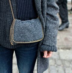 wool on wool - Stella McCartney Clutch - a bit of grey doesn't hurt either