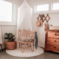 b e a u t i f u l s p a c e s Crushing on Ethan s nursery nook featuring our very popular woven change basket To be honest I think Newlywed Bedroom, Baby Bedroom, Baby Room Decor, Kids Bedroom, Nursery Decor, Boho Nursery, Kids Wall Decor, Nursery Ideas, Bebe Love