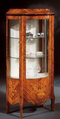 Antique Interior, Marquetry, Cabinet Makers, Glass Door, Display, Interior Design, Antiques, Wood, Classic