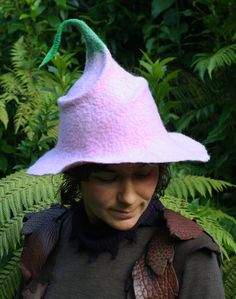 Delicate Rose Spiral Hat with Leaf by MudWoodArts on Etsy