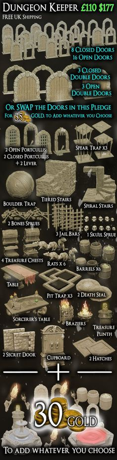 Twisting Catacombs . Miniature Dungeon Scenery by Zealot Miniatures — Kickstarter