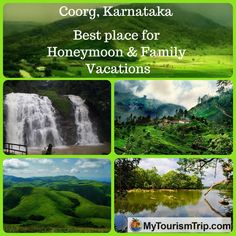 Coorg, Karnataka Located as it is in the #WesternGhats, Coorg also offers trekking opportunities which vary from easy to moderate. Its a best destination in Karnataka india for Honeymoon & Family Vacation, weekendGetway.