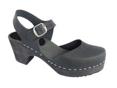 Amazon.com: Lotta From Stockholm Torpatoffeln Swedish Clogs : Highwood Mary Jane Style in Black Leather 9 B(M) US / 40 M EU: Shoes