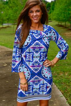 Rhinestone Heaven Dress, Blue