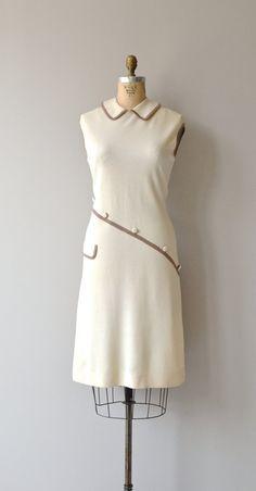 Crosstown dress vintage 1960s knit dress mod 60s by DearGolden