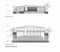 Image 13 of 16 from gallery of Hillside House / Architects. Hillside House, House Elevation, Bungalow, Acre, Entrance, Floor Plans, Gallery, Awards, Designers