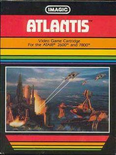 Atlantis video game cartridge for the #Atari 2600 and 7800 #Retrogaming
