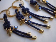 Luxury martyrika-Evil eye martyrika -Key chains Baptism Favors- Gold and blue martyrika-formal style martirika