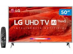 "Smart TV 4K LED 50"" LG 50UM7500 Wi-Fi - Inteligência Artificial Controle Smart Magic - Magazine Vendasonlineweb Wi Fi, Tvs, Smart Tv Philips, Quad, Smart Tv 4k, Smartphone Motorola, Tv Shopping, Apple Logo, Shopping"