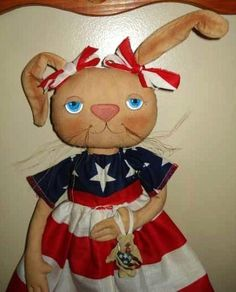 Americana RABBIT DOLL Pattern, 18 inch Bunny Doll, Annabelle Pattern