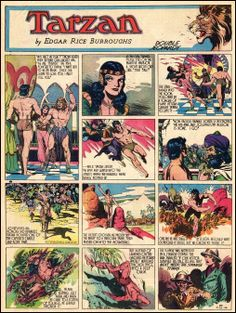 Tarzan comic strip | tarzan comic strip by edgar rice burroughs 2009 11 02
