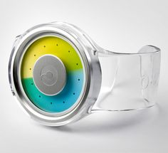 A watch that tells the time with colour gradients.  dezeen.com
