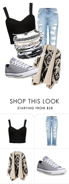 """Casual"" by rohimabegumx ❤ liked on Polyvore featuring Forever New, Genetic Denim, Converse and Domo Beads"
