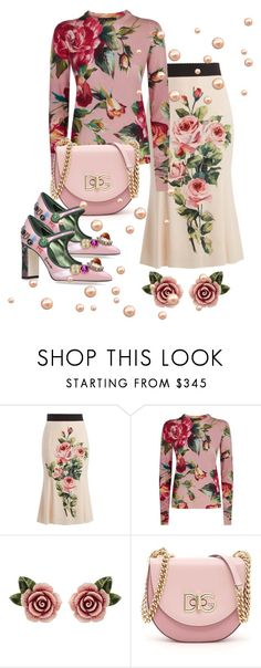 """""""pink flowers"""" by fashion-designer-naile ❤ liked on Polyvore featuring Dolce&Gabbana"""