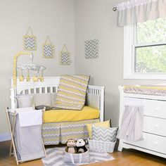 Buttercup Zig Zag 5 Piece Baby Crib Bedding Set with Bumper by Trend Lab Image - trl1009014 - Type 1