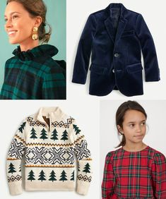 Festive Holiday Outfits for The Whole Family