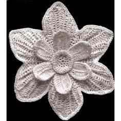 Crochet PATTERN to make   Antique Irish Crochet Narcissus Flower