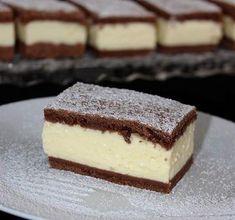 Pudingos-tejfölös szelet, aránylag olcsó, és karácsonyra is tökéletes - Blikk Rúzs Sweet Desserts, Sweet Recipes, Diet Cake, Cookie Recipes, Dessert Recipes, Hungarian Recipes, Creative Cakes, Dessert Bars, No Bake Cake