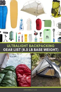 What is ultralight backpacking and an ultralight backpacking gear list breakdown. pound full comfort base weight and a pound consumables for thru hiking the Appalachian Trail, Pacific Crest Trail or Continental Divide Trail. Kayak Camping, Camping And Hiking, Ultralight Backpacking Gear, Thru Hiking, Camping List, Hiking Tips, Van Camping, Camping Ideas, Backpacking Food