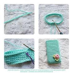 Crochet Phone Cases How to crochet an iphone cover - click through for free pattern - For all crochet lovers, this post will teach you how to create your own crochet iphone cover with rose decoration! Crochet Phone Cover, Crochet Case, Crochet Hook Set, Cute Crochet, Crochet Flower, Easy Crochet Projects, Crochet Crafts, Pouch Pattern, Free Pattern