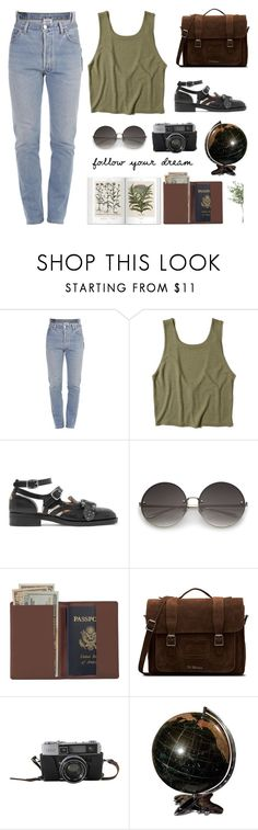 """""""follow your dream"""" by eysari ❤ liked on Polyvore featuring Vetements, Hollister Co., Gucci, Royce Leather, Dr. Martens and NDI"""
